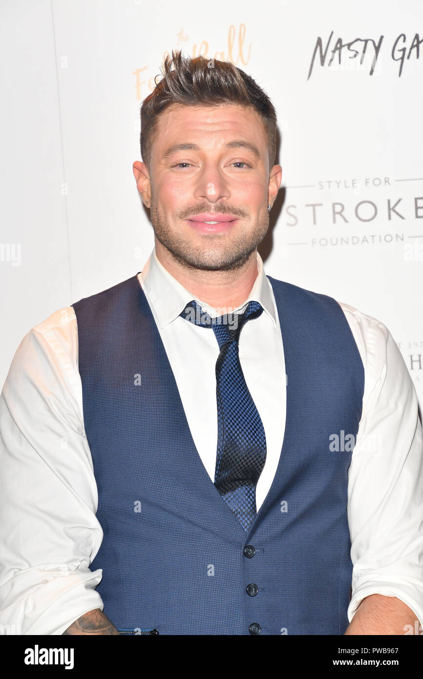 London, UK. 14th Oct, 2018. Duncan James attends gala dinner and concert to raise money and awareness for the Melissa Bell Foundation and Style For Stroke Foundation. 14 October 2018. Credit: Picture Capital/Alamy Live News - Stock Image