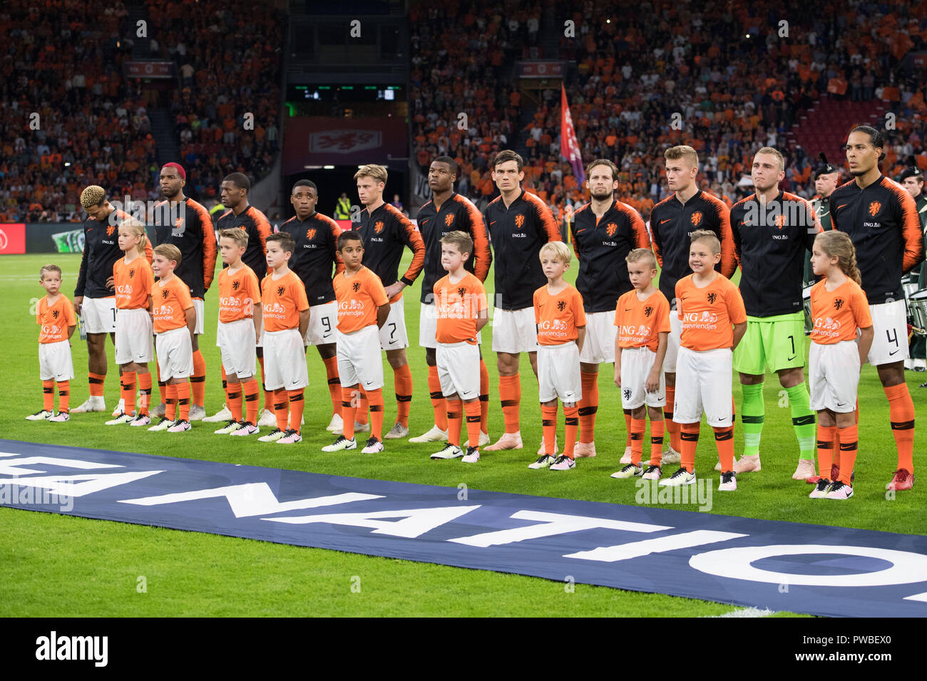 The Dutch players will be present on the pitch, presentation