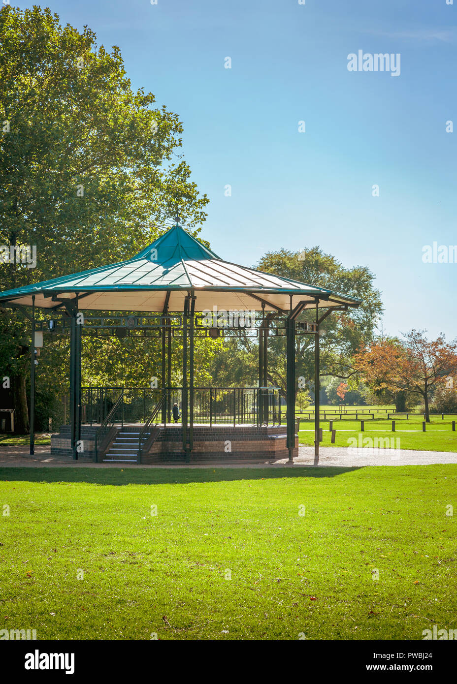 The bandstand, next to the river in Stratford upon Avon. - Stock Image