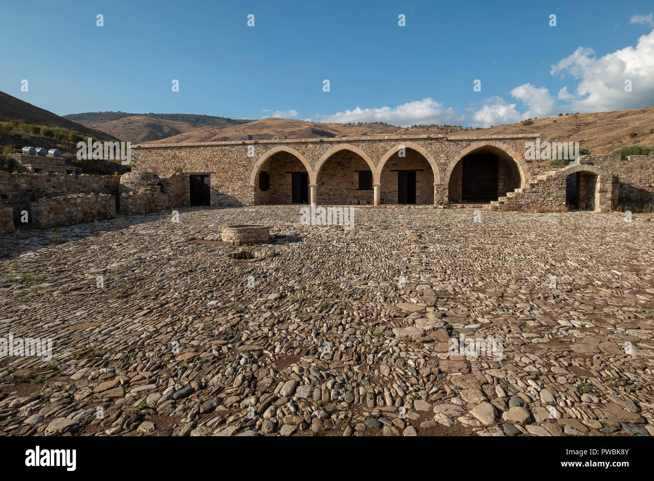 Panagia tou Sinti Monastery. Orthodox monastery dedicated to the Virgin Mary. Paphos district, Cyprus. Stock Photo