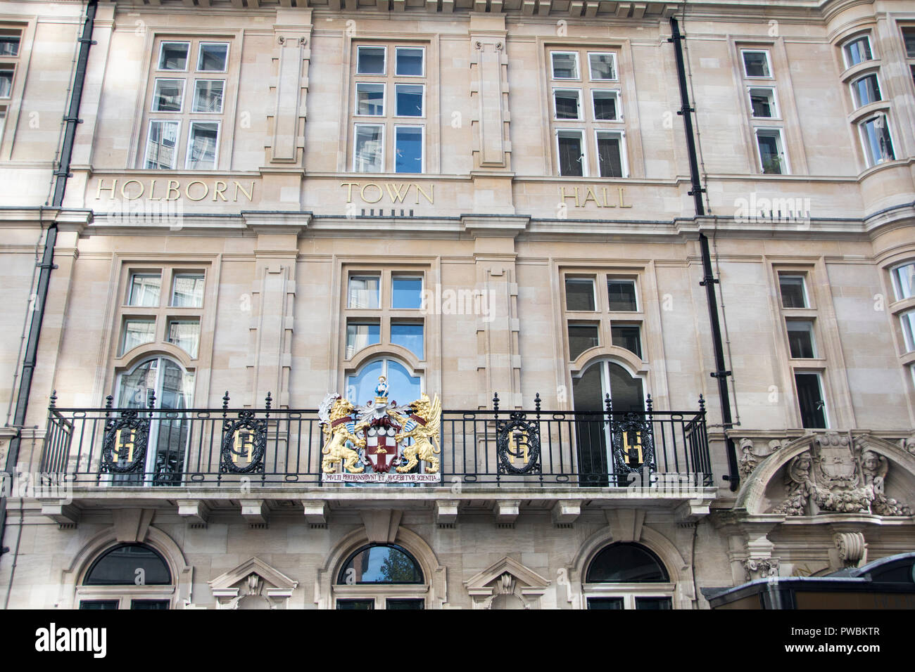 The former Holborn Town Hall, High Holborn, London, WC1, UK - Stock Image