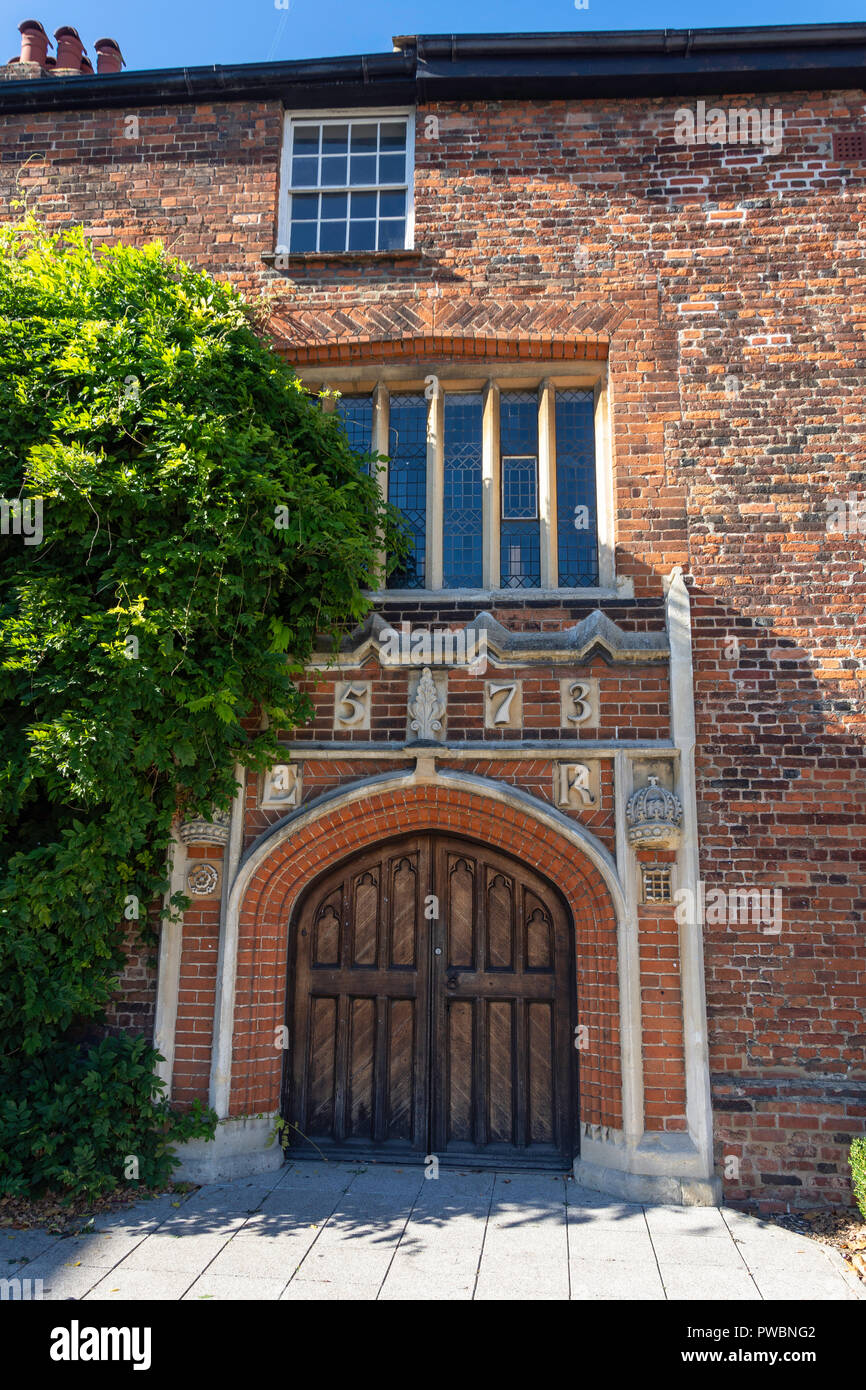 1573 Tudor Hall (ancient Grammar school), Wood Street, Barnet, London Borough of Barnet, Greater London, England, United Kingdom - Stock Image