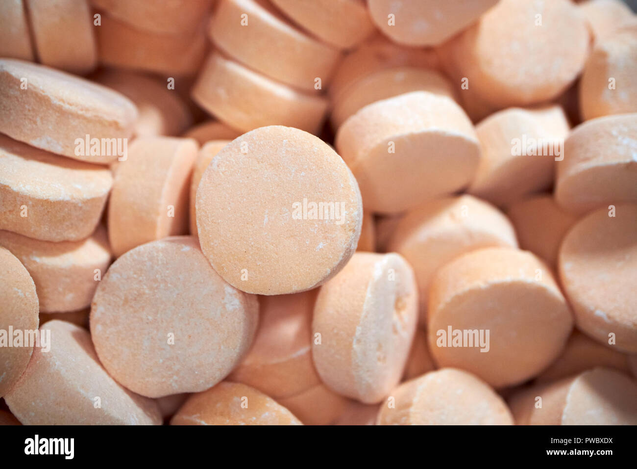 cinnamon lozenges traditional british and irish sweets these sweets are traditional in northern ireland - Stock Image