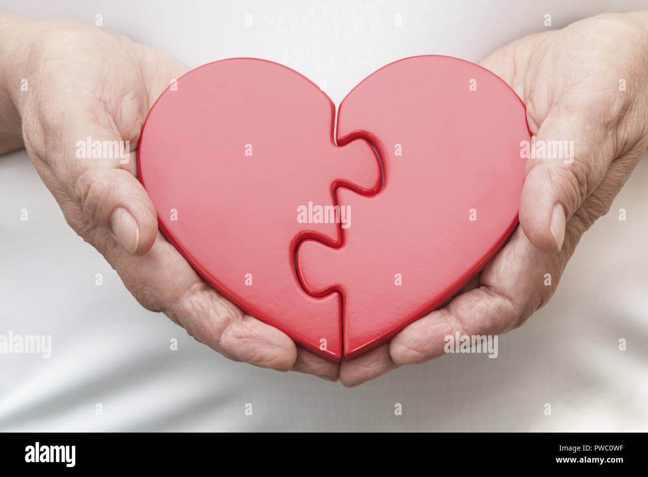 Two Halves of One Heart - Stock Image