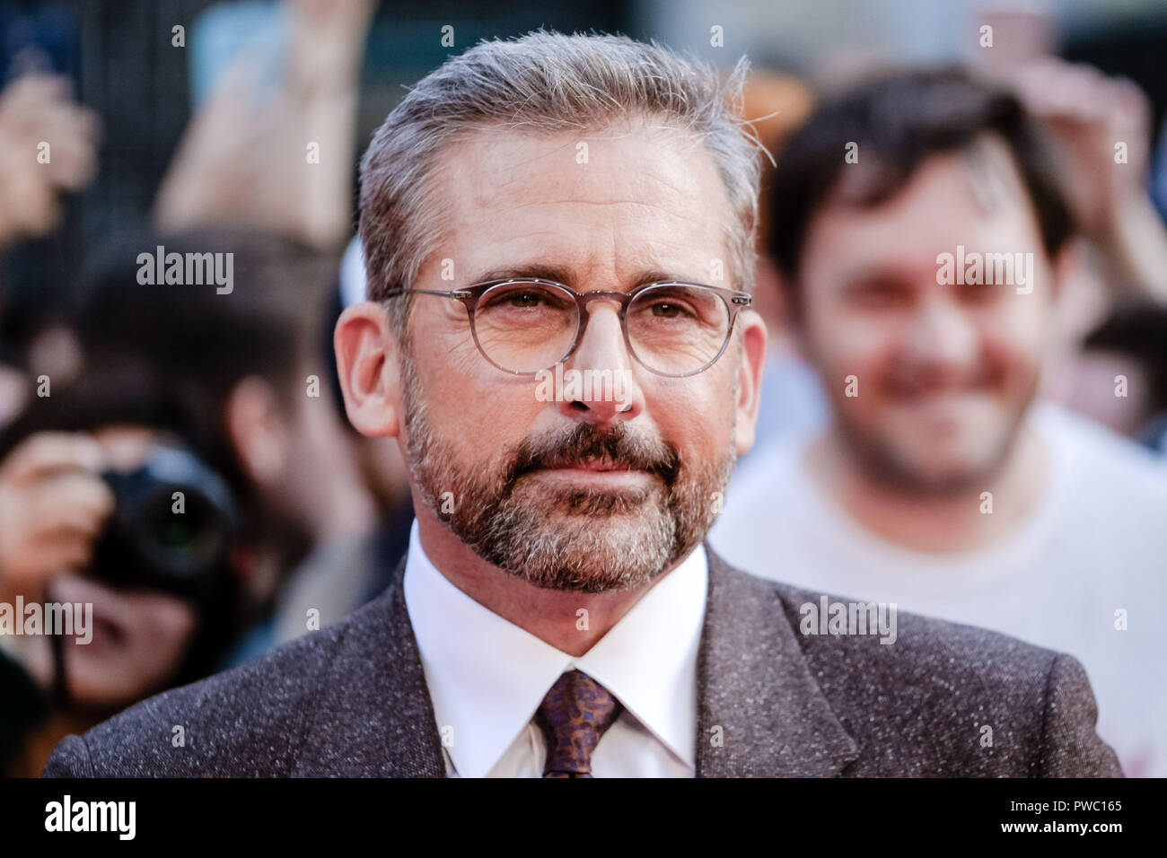 Actor Steve Carell at the London Film Festival Screening of Beautiful Boy on Saturday 13 October 2018 held at Cineworld Leicester Square, London. Pictured: Steve Carell. Picture by Julie Edwards. - Stock Image
