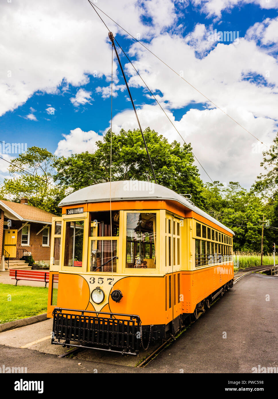 The Shore Line Trolley Museum   East Haven, Connecticut, USA Stock Photo