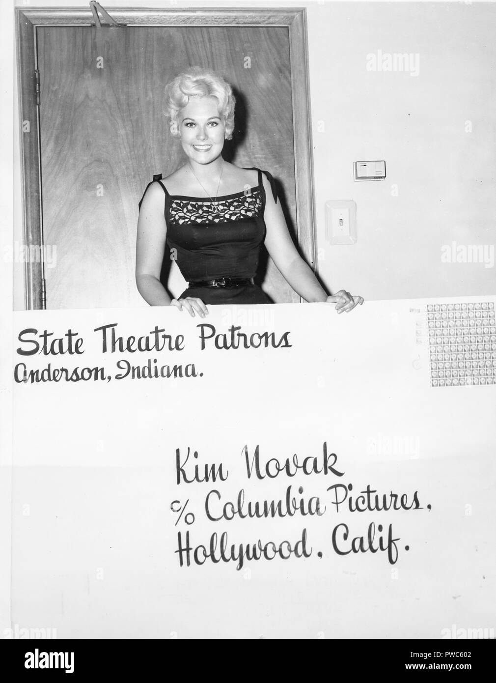 kim novak, 1956 Stock Photo