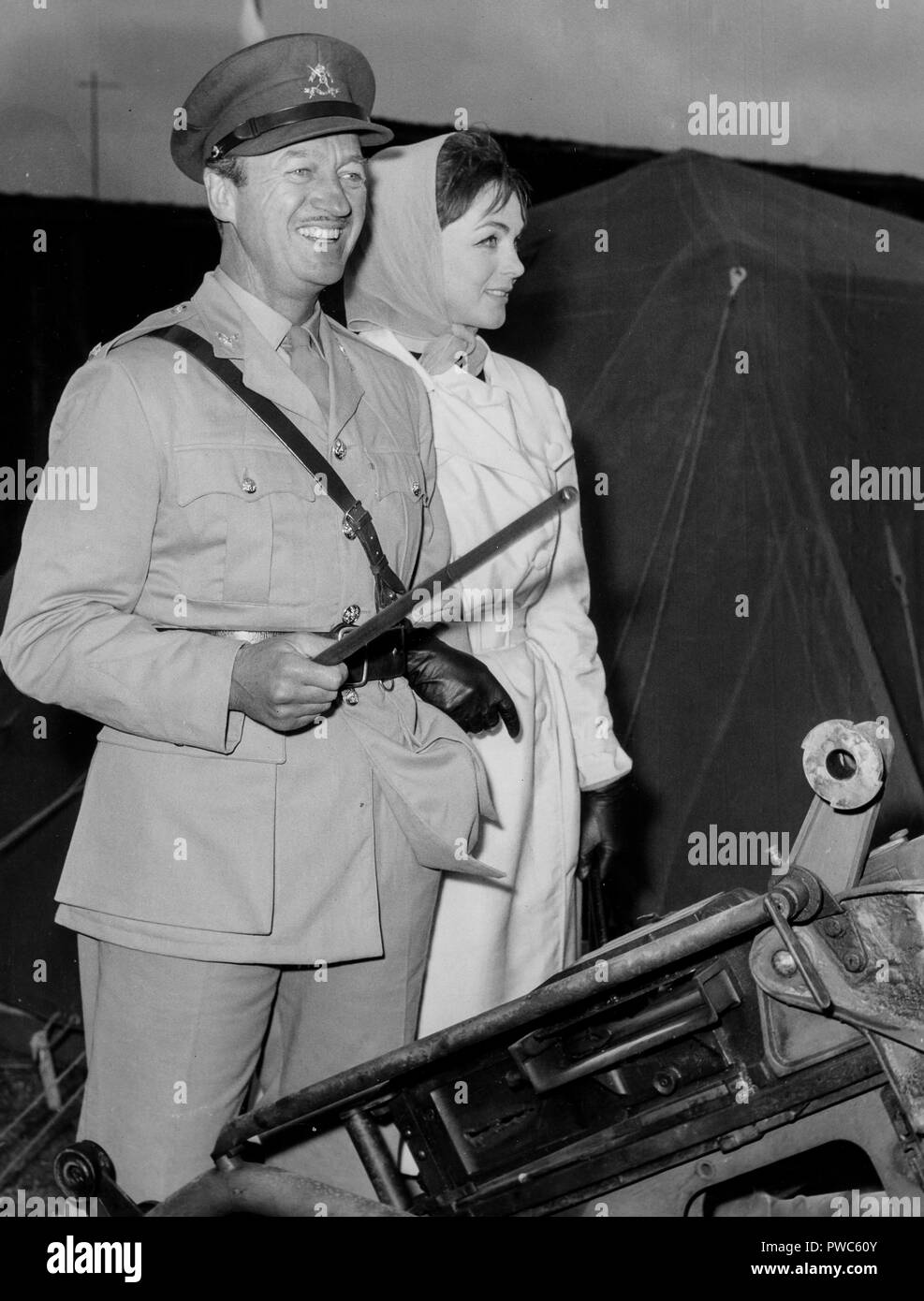 david niven with wife hjordis paulina tersmeden, the best of enemies, 1961 - Stock Image