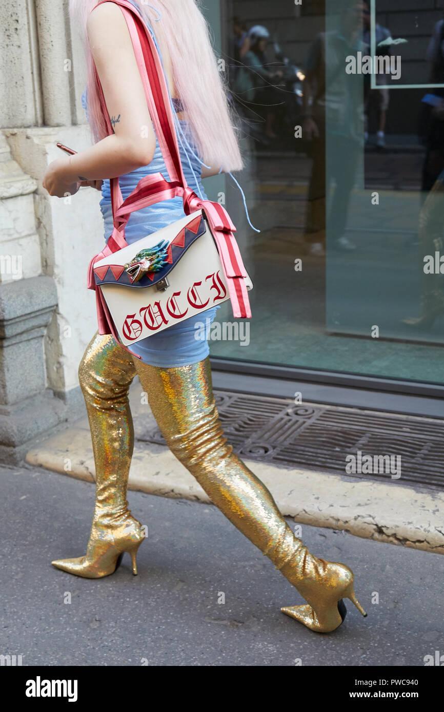 b19cecbc73b Pink Gucci Bag Stock Photos   Pink Gucci Bag Stock Images - Alamy