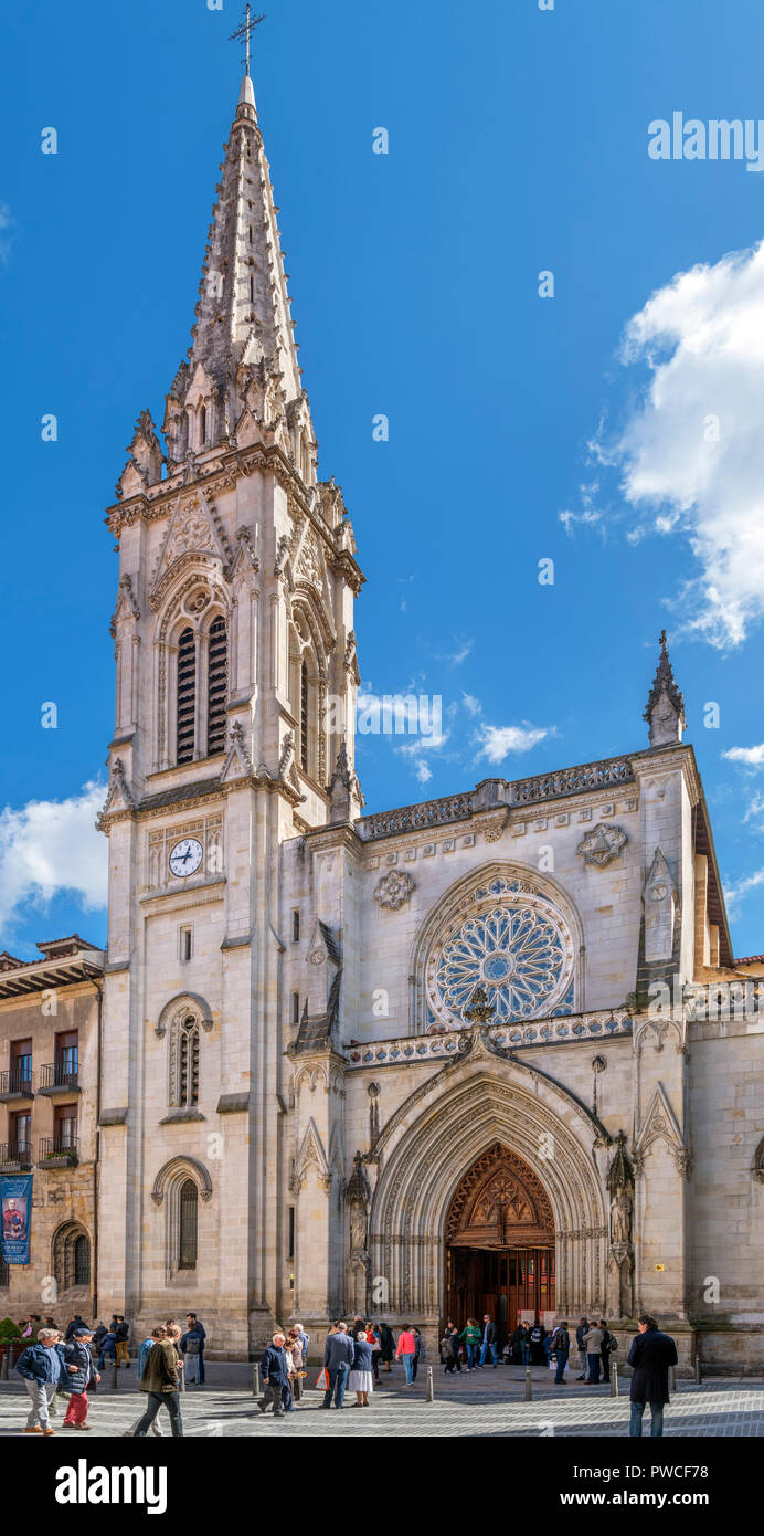 Bilbao Cathedral, Bilbao, Basque Country, Spain - Stock Image