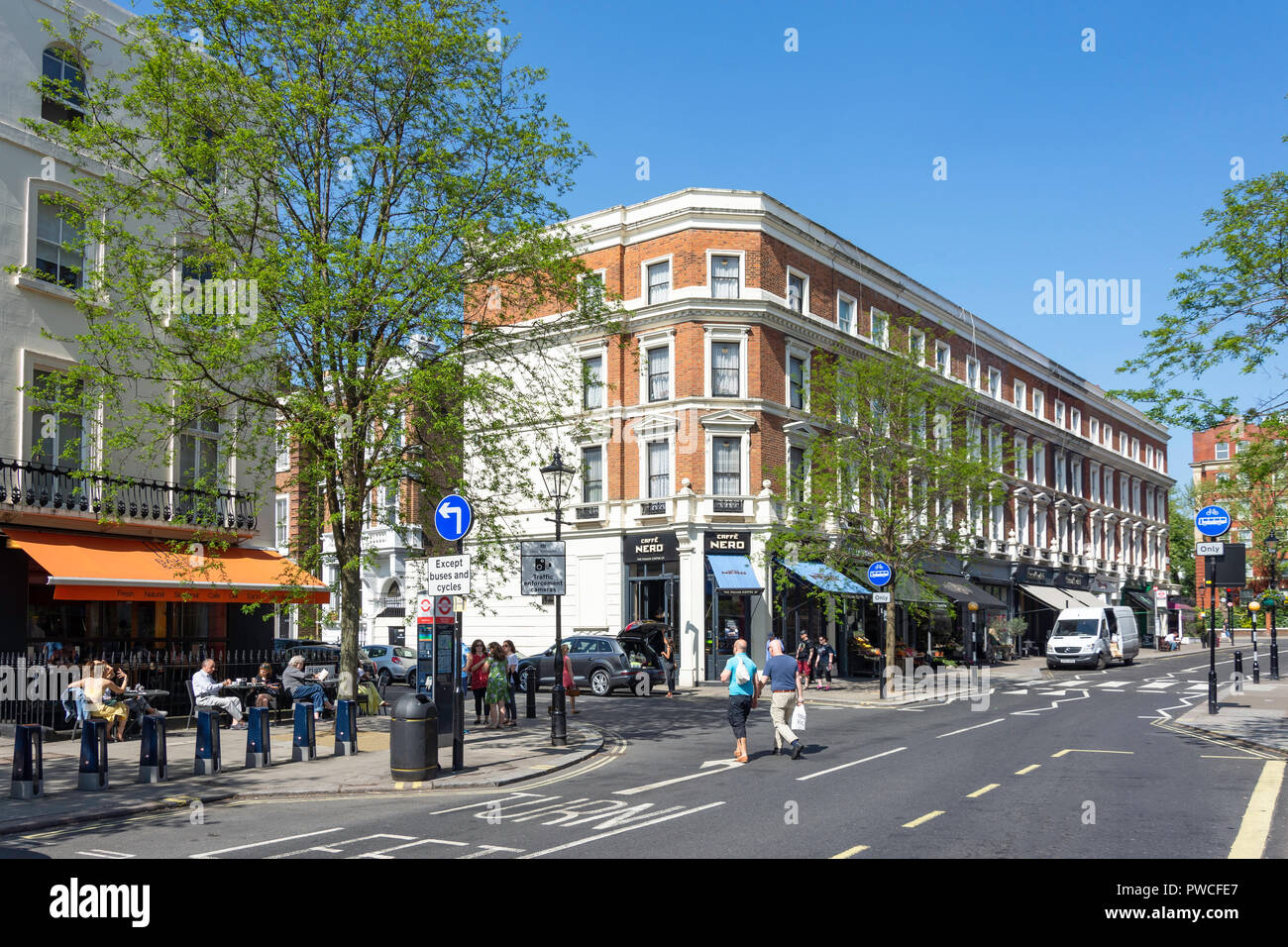 Clifton Road, Little Venice, Maida Vale, City of Westminster, Greater London, England, United Kingdom - Stock Image