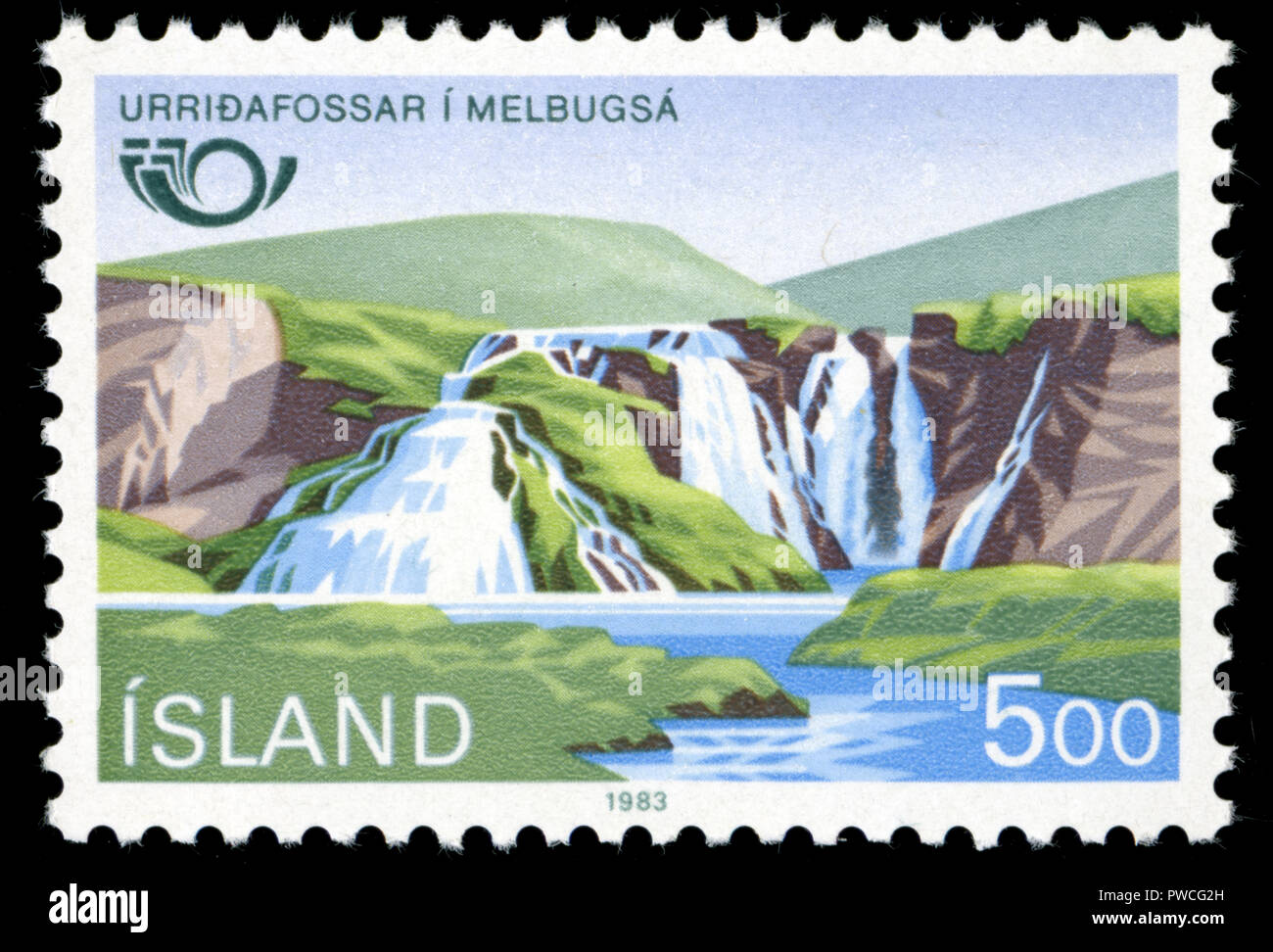 Postmarked stamp from Iceland in the Norden series issued in 1983 - Stock Image