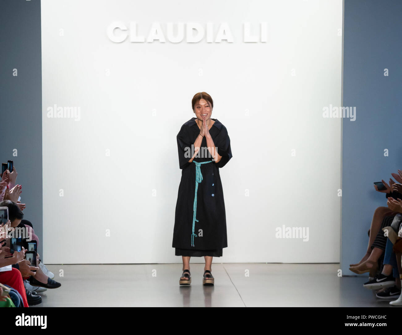 New York Ny September 09 2018 Designer Claudia Li Walks The Runway At The Claudia Li Spring Summer 2019 Fashion Show During New York Fashion Week Stock Photo Alamy