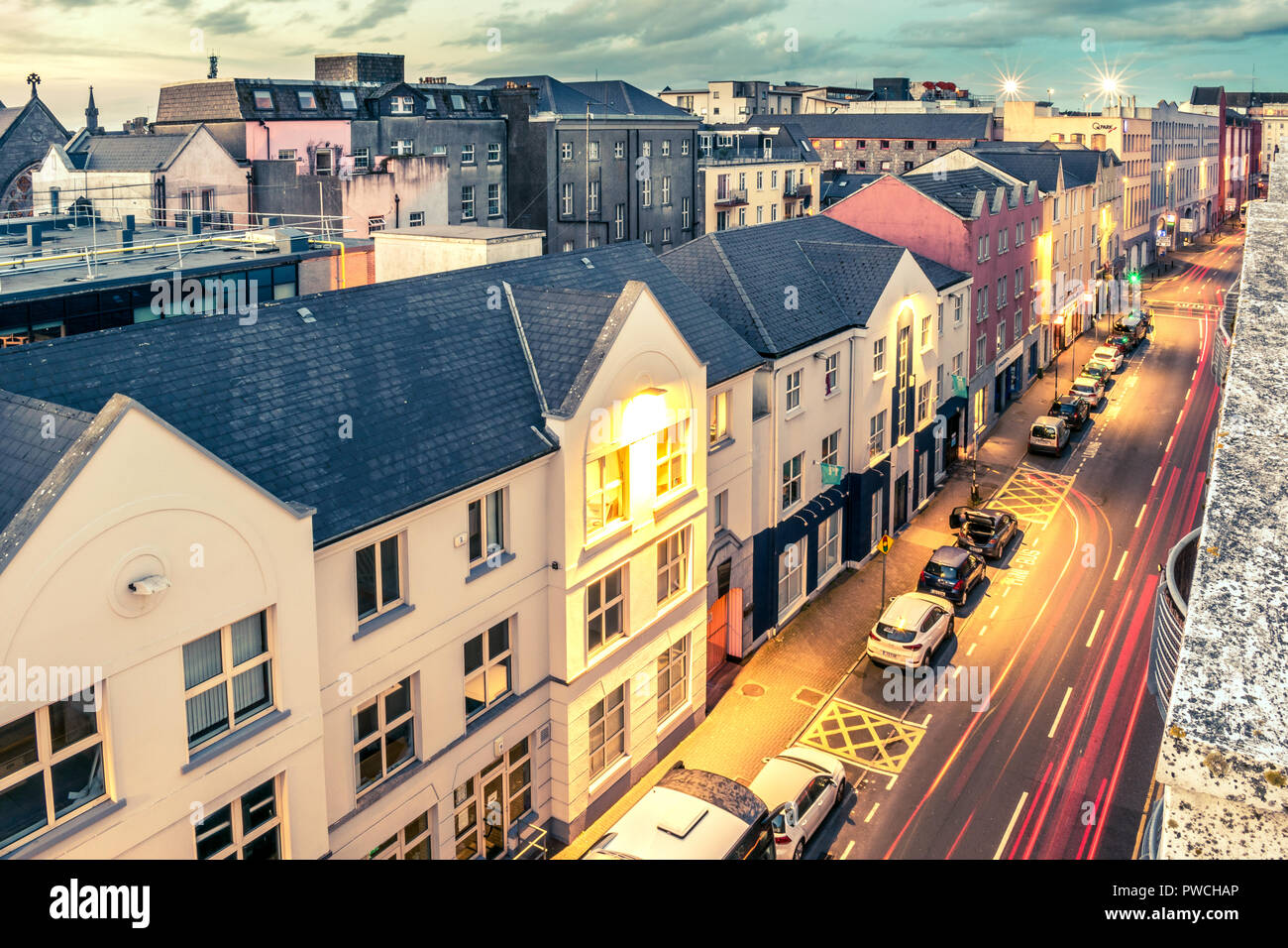 Galway rooftops - Stock Image