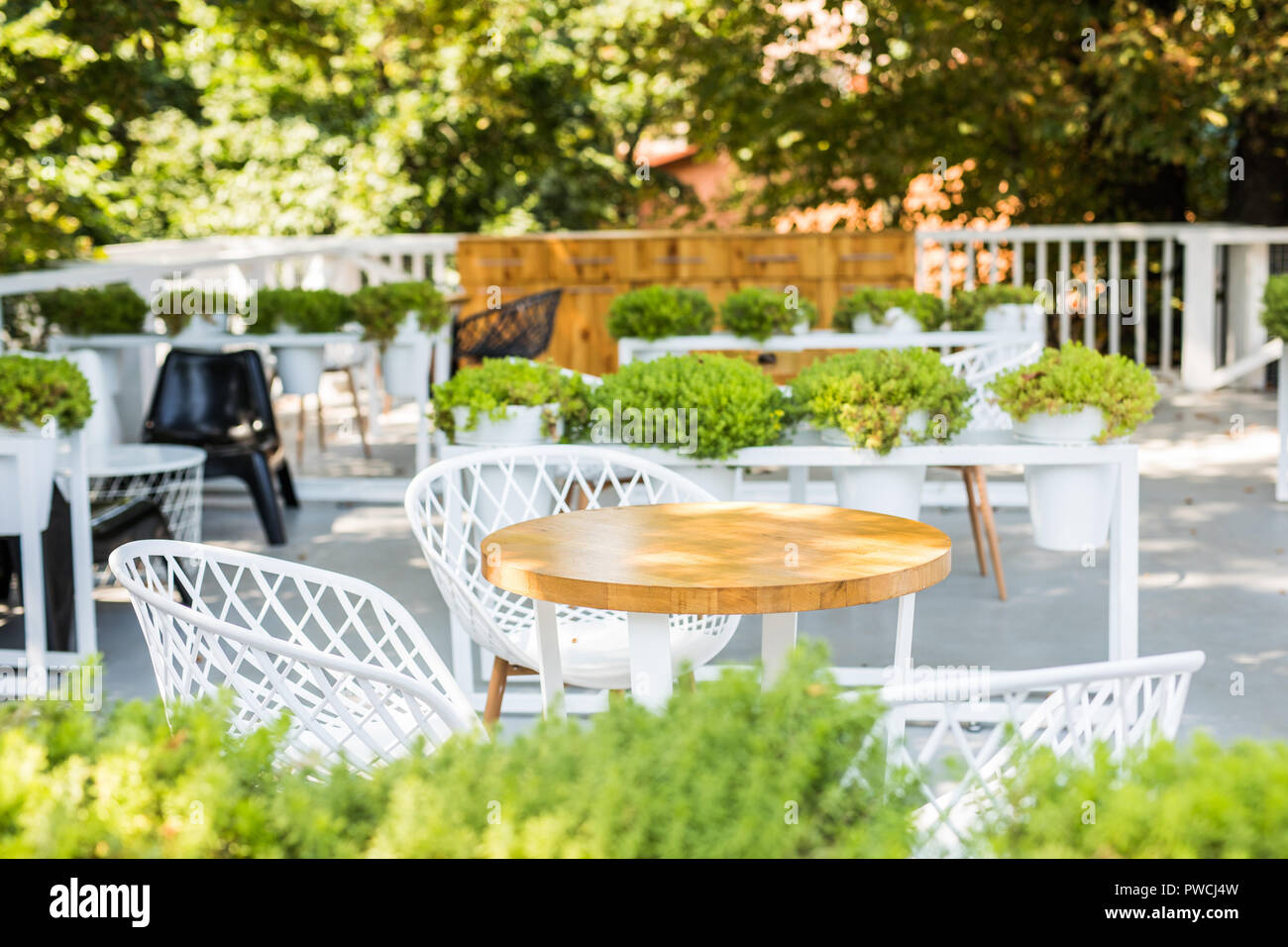 Blur Cafe Restaurant On Outdoor Use For Background Stock Photo Alamy