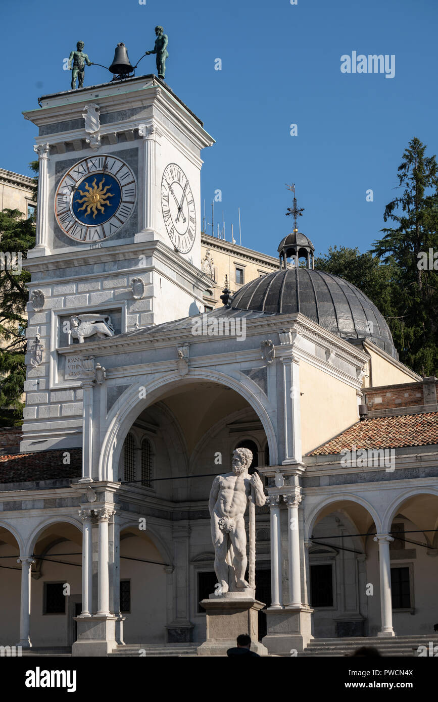 The statue of Caco made by the sculptor Angelo de Putti in Freedom Square in Udine, Italy - Stock Image