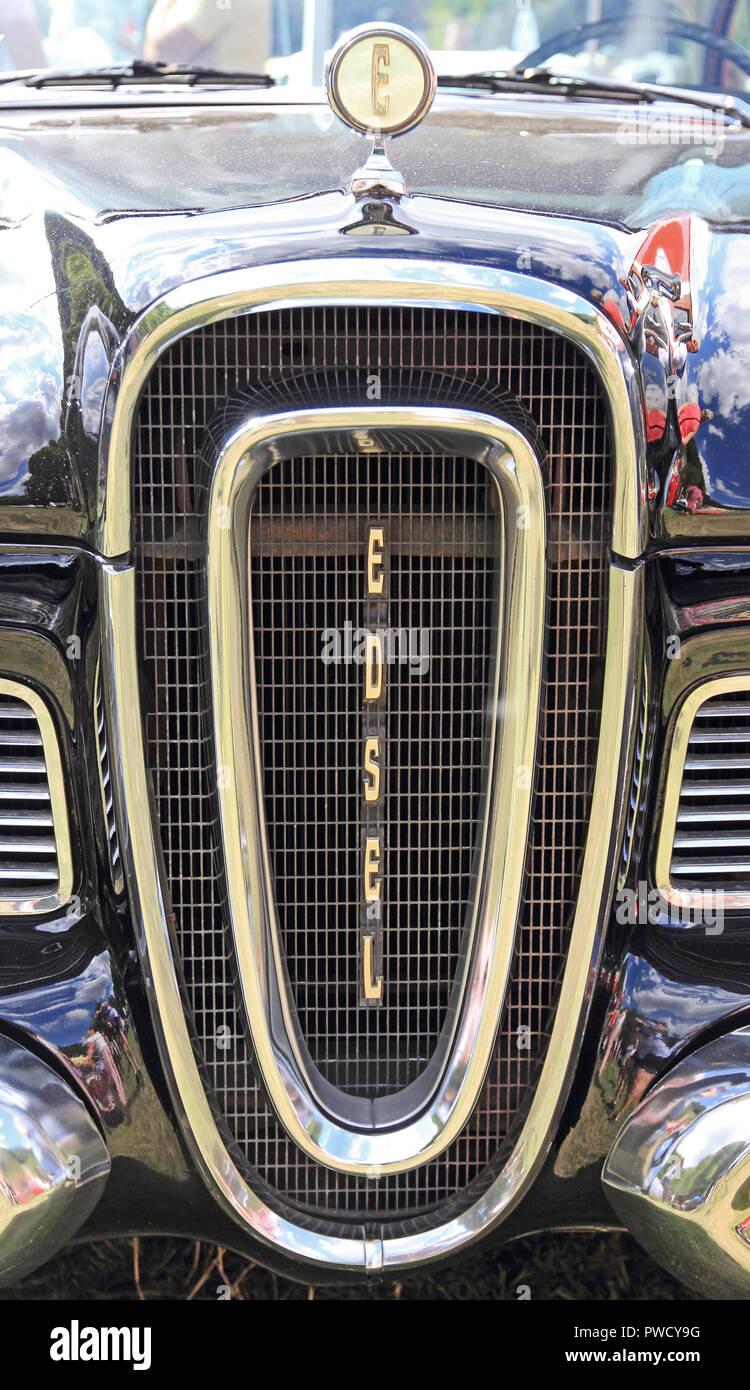 Radiator grille of 1958 Edsel Ranger 2 door Coupe - Stock Image
