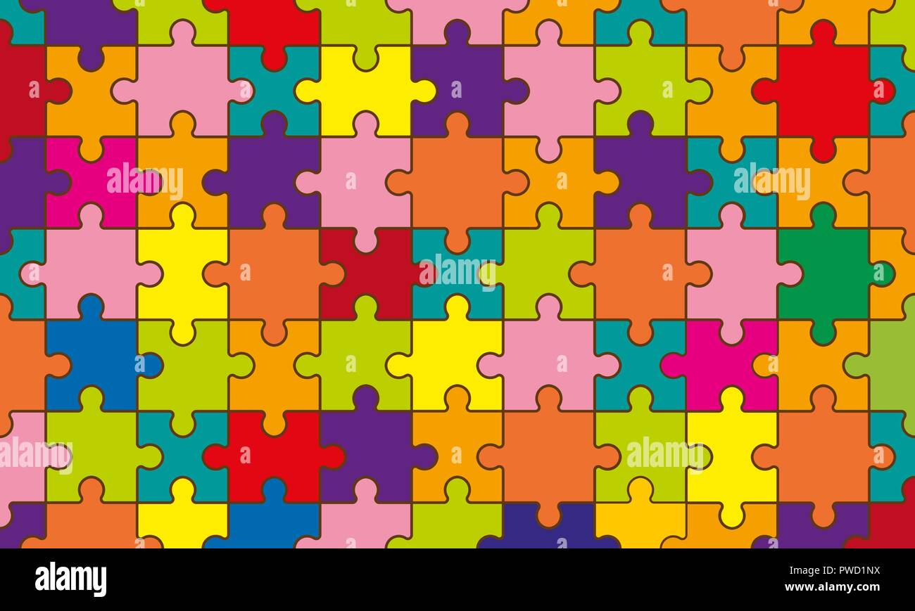 Panel of a large number of elements of a multi-colored mosaic - Stock Vector