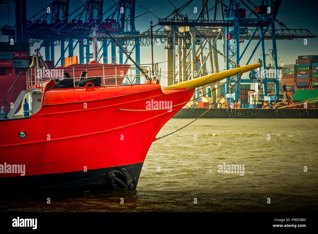 Deutschland, Hamburg, Hafen, Neumühlen, Oevelgönne - Stock Image
