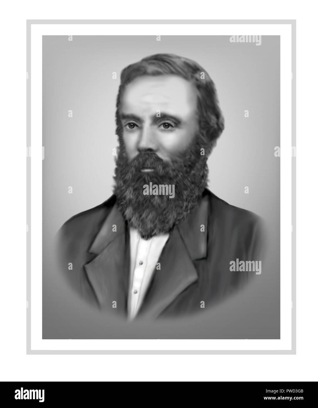 Robert O'Hara Burke  1821 - 1861  Irish Soldier Police Officer Australian Explorer - Stock Image