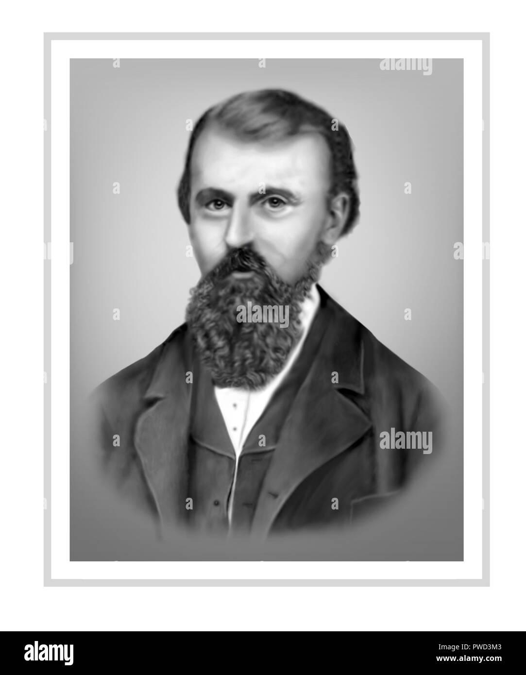 William John Wills 1834 - 1861  British born Surveyor Surgeon Australian Explorer - Stock Image