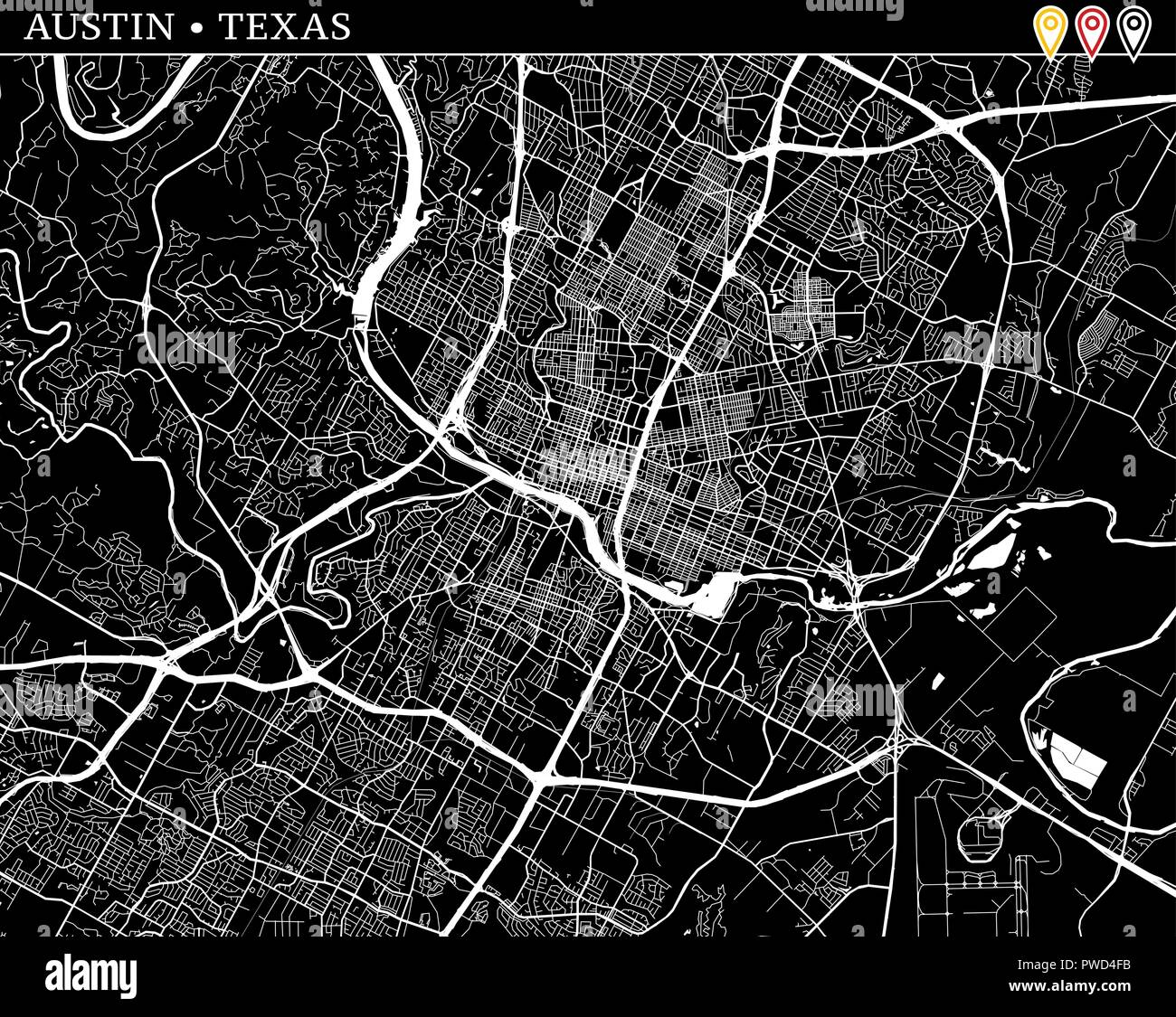 Simple map of Austin, Texas, USA. Black and white version ... on location of rosenberg texas, major aquifers of texas, google austin texas, american bank of texas, the annexation of texas, geographic center of texas, dallas texas, relative location of texas, geographical id texas, city of rosenberg texas, temperature austin texas, missions of texas, city of manor texas, austin city limits map texas, lakes of texas, 3d physical map texas, printable maps north texas, is there desert in texas, black and white state of texas, stuff about texas,