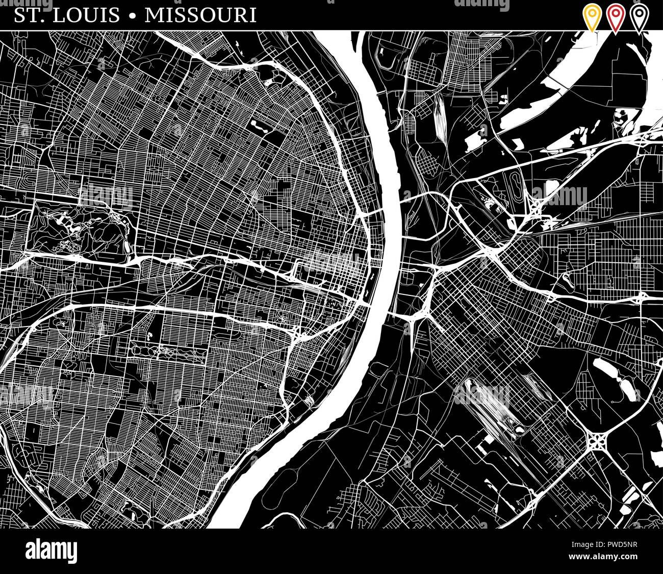 Simple map of St. Louis, Missouri, USA. Black and white ... on liberty missouri usa map, nashville tennessee usa map, wichita kansas usa map, albany new york usa map, st. louis map, minneapolis minnesota usa map, providence rhode island usa map, birmingham alabama usa map, boston massachusetts usa map, tacoma washington usa map, springfield missouri usa map, buffalo new york usa map, franklin missouri usa map, lebanon missouri usa map, state of missouri location map, atlanta georgia usa map, omaha nebraska usa map, independence missouri usa map, san diego california usa map, des moines iowa usa map,