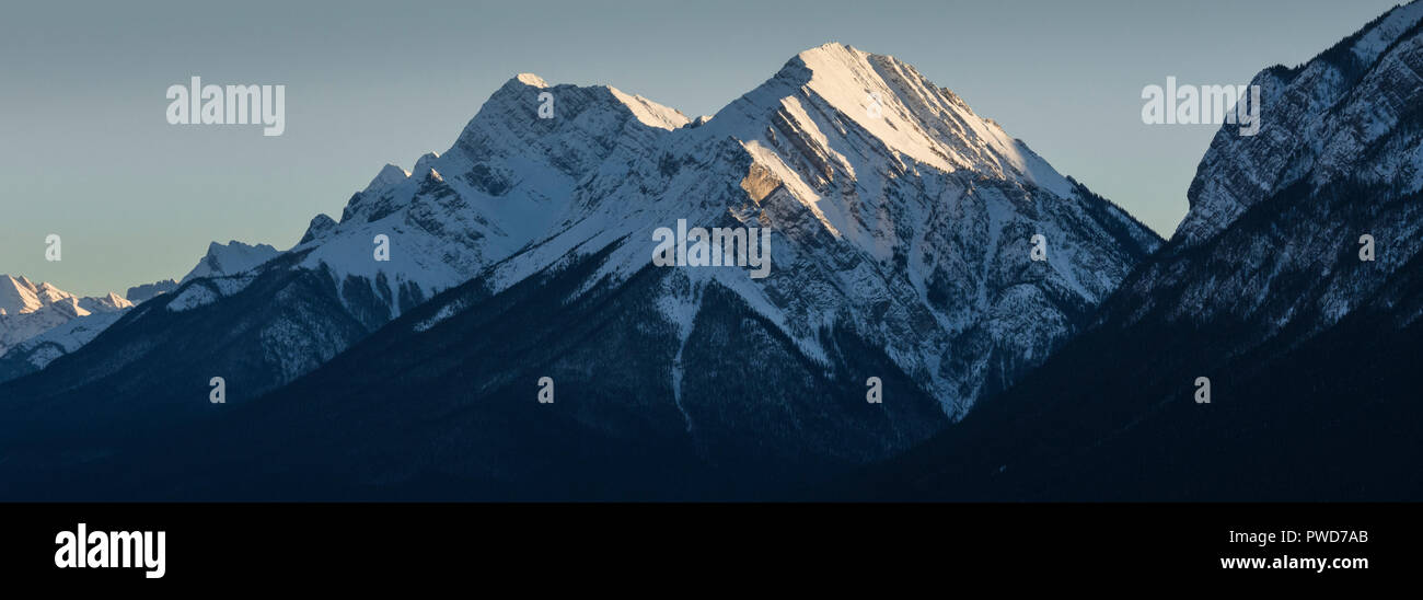 Sundance Peak sunset, Banff, Alberta, Canada - Stock Image