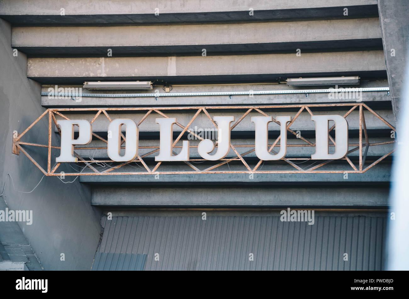 Exterior of the Poljud stadium, home of Hadjuk Split football club, Split, Croatia, September 2018 Stock Photo