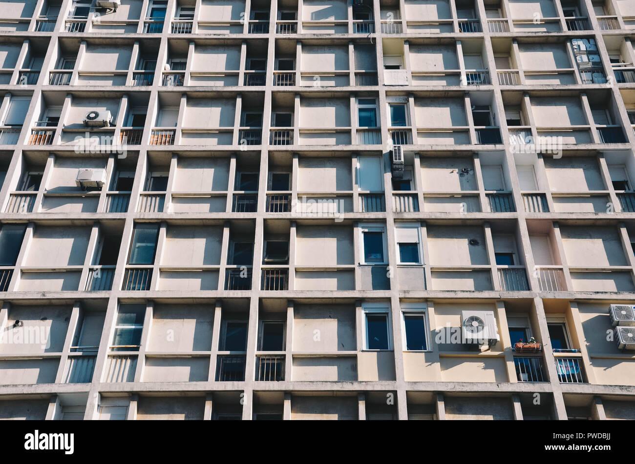 A residential housing block in Poljud, Split, Croatia, September 2018 Stock Photo