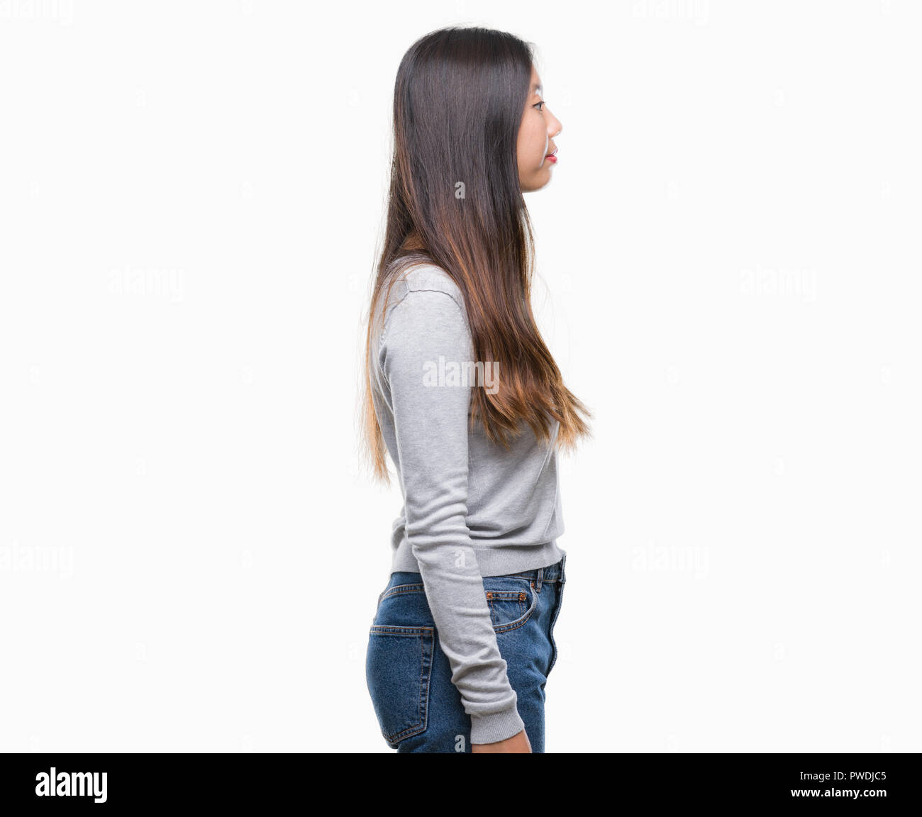 Side Profile Portrait Asian Girl High Resolution Stock Photography And Images Alamy