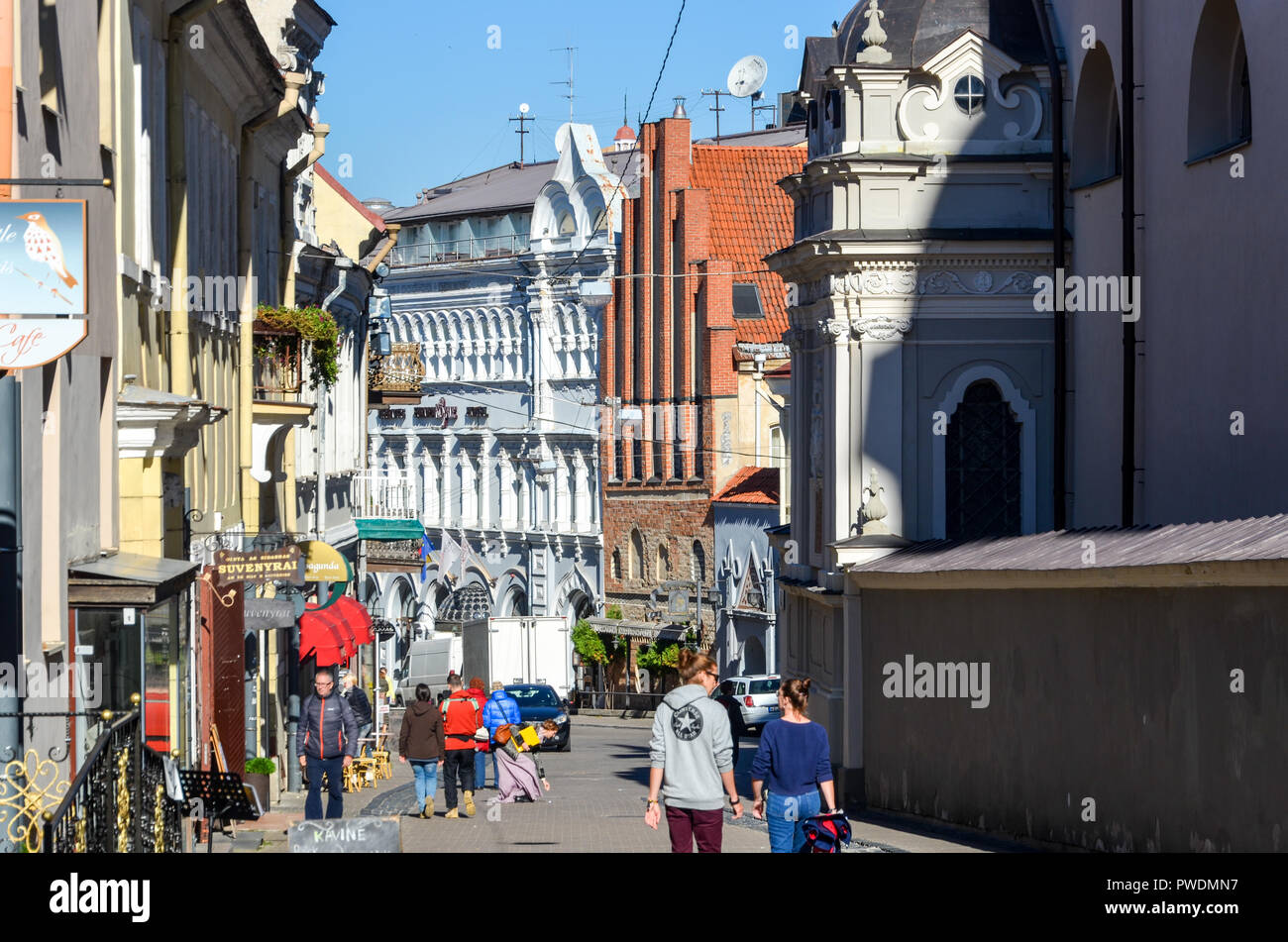City centre of Vilnius, Lithuania - Stock Image