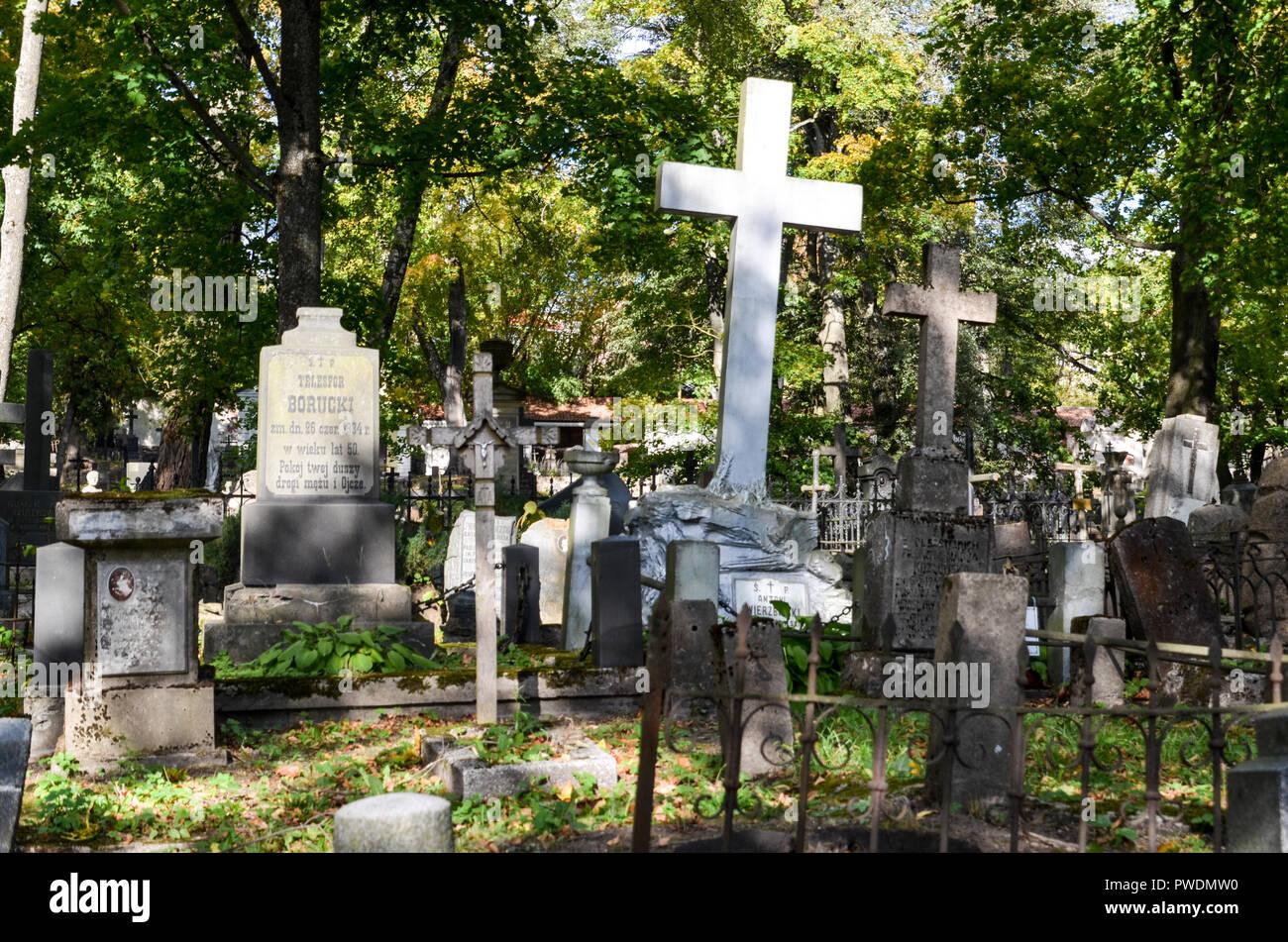 Bernardine Cemetery in Uzupis, Vilnius, Lithuania - Stock Image