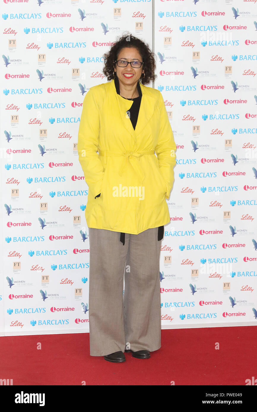 London, UK. 15th Oct 2018. Samira Ahmed, Women of the Year Lunch, InterContinental, London Park Lane, UK, 15 October 2018, Photo by Richard Goldschmidt Credit: Rich Gold/Alamy Live News Stock Photo