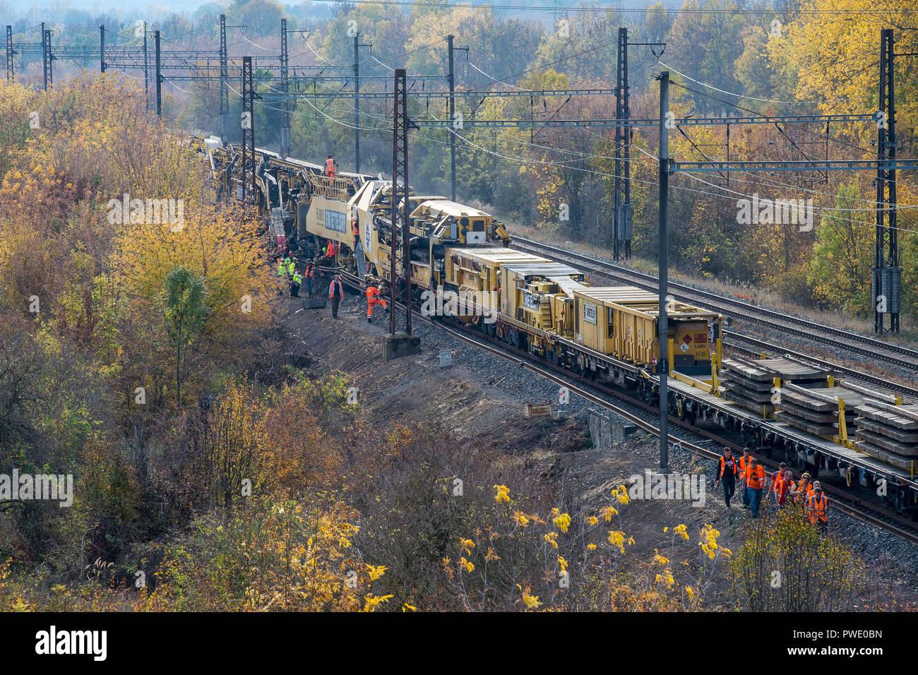 Railway Track Renewal Stock Photos & Railway Track Renewal