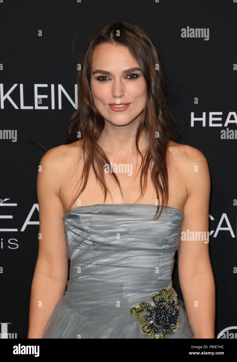BEVERLY HILLS, CA - OCTOBER 15: Keira Knightley, at the 25th Annual ELLE Women in Hollywood Celebration at the Four Seasons Hotel in Beverly Hills, California on October 15, 2018. Credit: Faye Sadou/MediaPunch - Stock Image