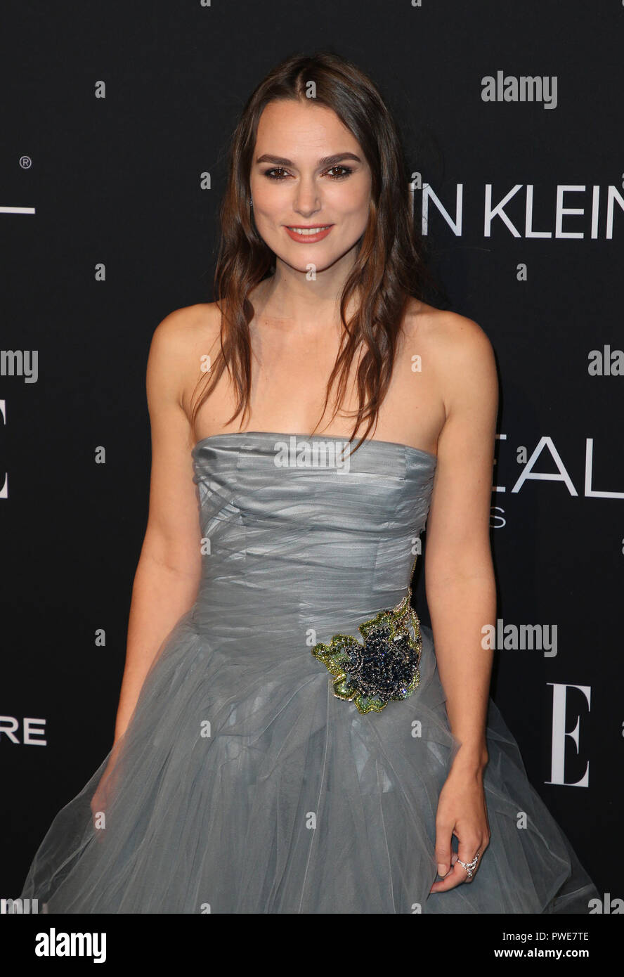 Los Angeles, CA, USA. 15th Oct, 2018. 15 October 2018- Los Angeles, California - Keira Knightley, 25th Annual ELLE Women In Hollywood Celebration held at Four Seasons Hotel Los Angeles at Beverly Hills. Photo Credit: Faye Sadou/AdMedia Credit: Faye Sadou/AdMedia/ZUMA Wire/Alamy Live News - Stock Image