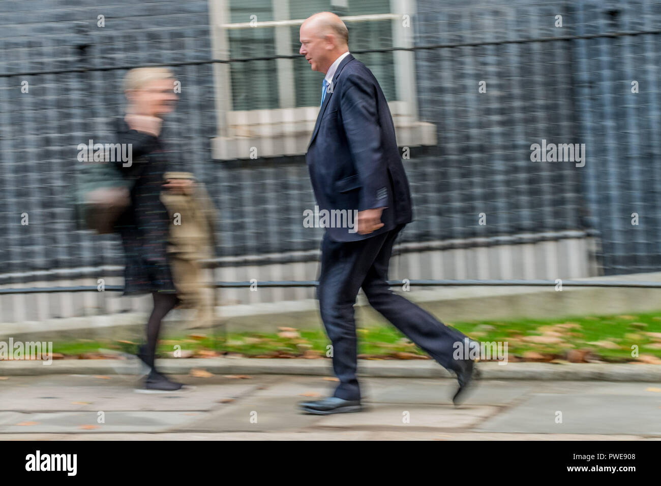 October 16, 2018 - Chris Grayling,Secretary of State for Transport  arriving at weekly Cabinet meeting at Downing Street (Credit Image: © Velar Grant/ZUMA Wire) - Stock Image