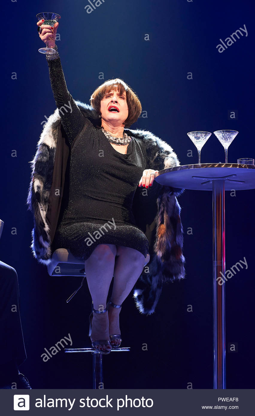 London, UK, 16th Oct 2018. Company, a Musical Comedy, Music and Lyrics by Stephen Sondheim, book by George Furth. Directed by Marianne Elliott. With Patti Lupone as Joanne. Opens at The Gielgud Theatre on 17/10/18. CREDIT Geraint Lewis EDITORIAL USE ONLY Credit: Geraint Lewis/Alamy Live News - Stock Image
