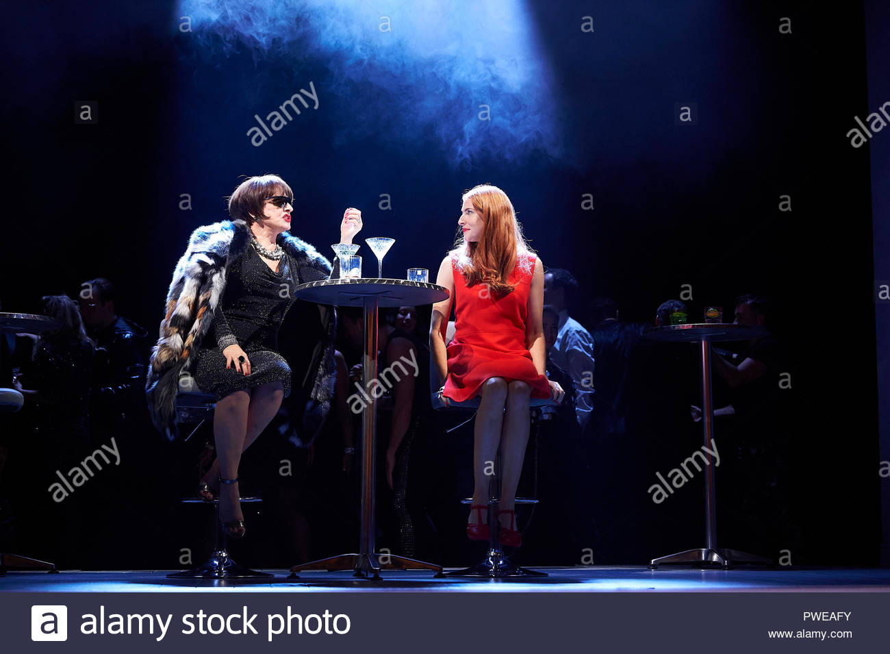 London, UK, 16th Oct 2018. Company, a Musical Comedy, Music and Lyrics by Stephen Sondheim, book by George Furth. Directed by Marianne Elliott. With Patti Lupone as Joanne, Rosalie Craig as Bobbie. Opens at The Gielgud Theatre on 17/10/18. CREDIT Geraint Lewis EDITORIAL USE ONLY Credit: Geraint Lewis/Alamy Live News - Stock Image