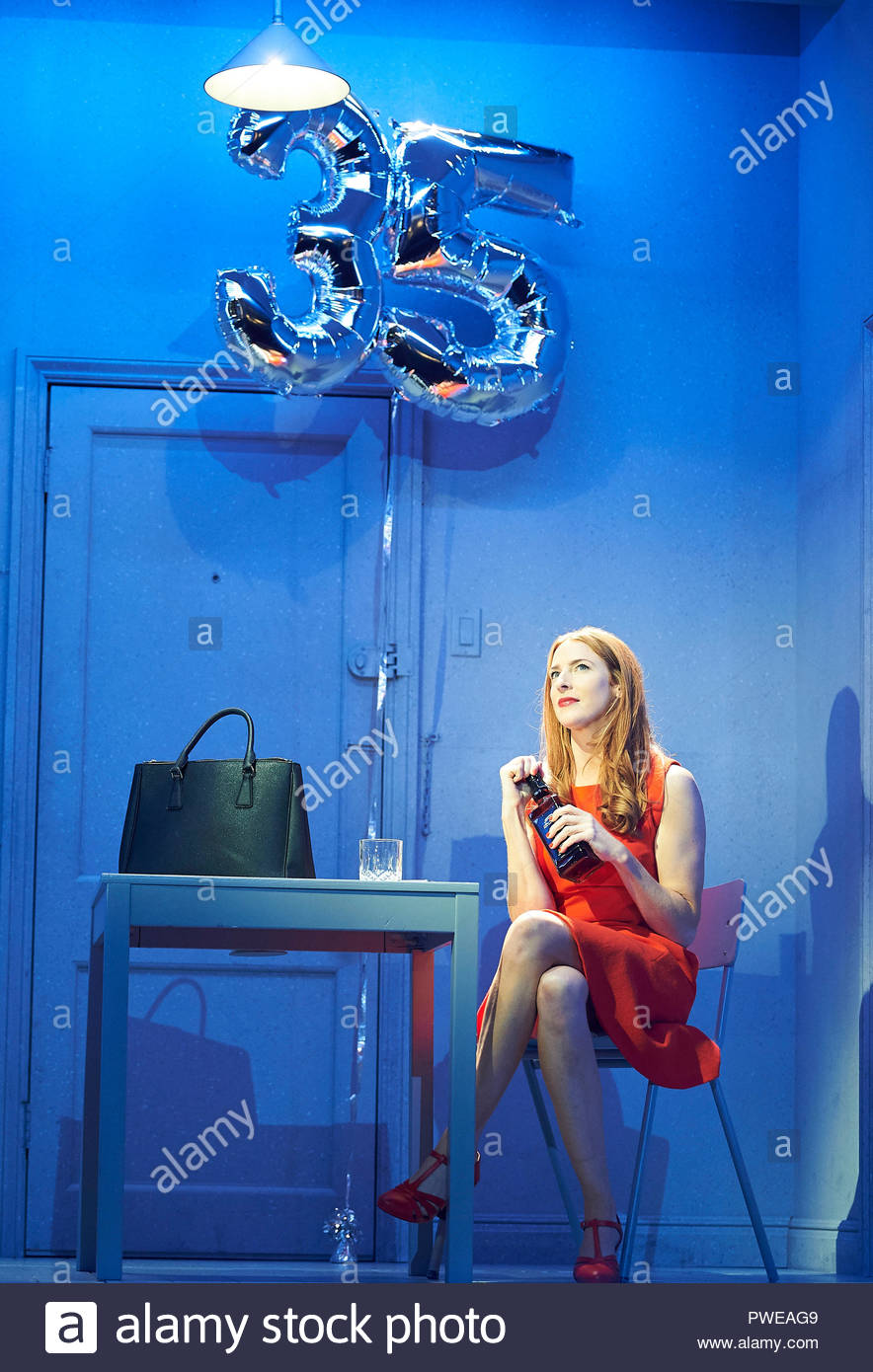 London, UK, 16th Oct 2018. Company, a Musical Comedy, Music and Lyrics by Stephen Sondheim, book by George Furth. Directed by Marianne Elliott. With Rosalie Craig as Bobbie. Opens at The Gielgud Theatre on 17/10/18. CREDIT Geraint Lewis EDITORIAL USE ONLY Credit: Geraint Lewis/Alamy Live News - Stock Image