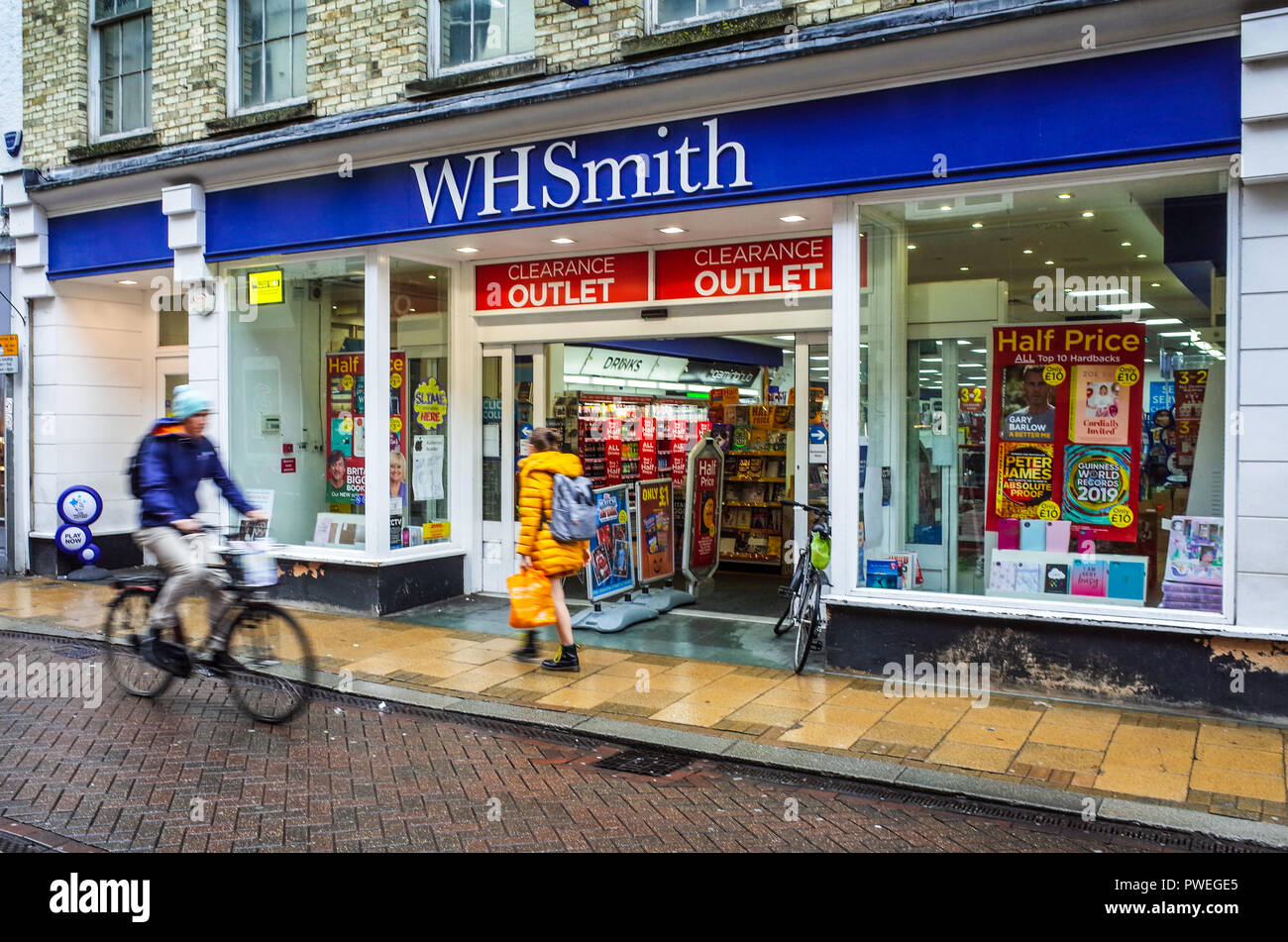 WHSmith Store - WH Smith shop in central Cambridge UK - Stock Image