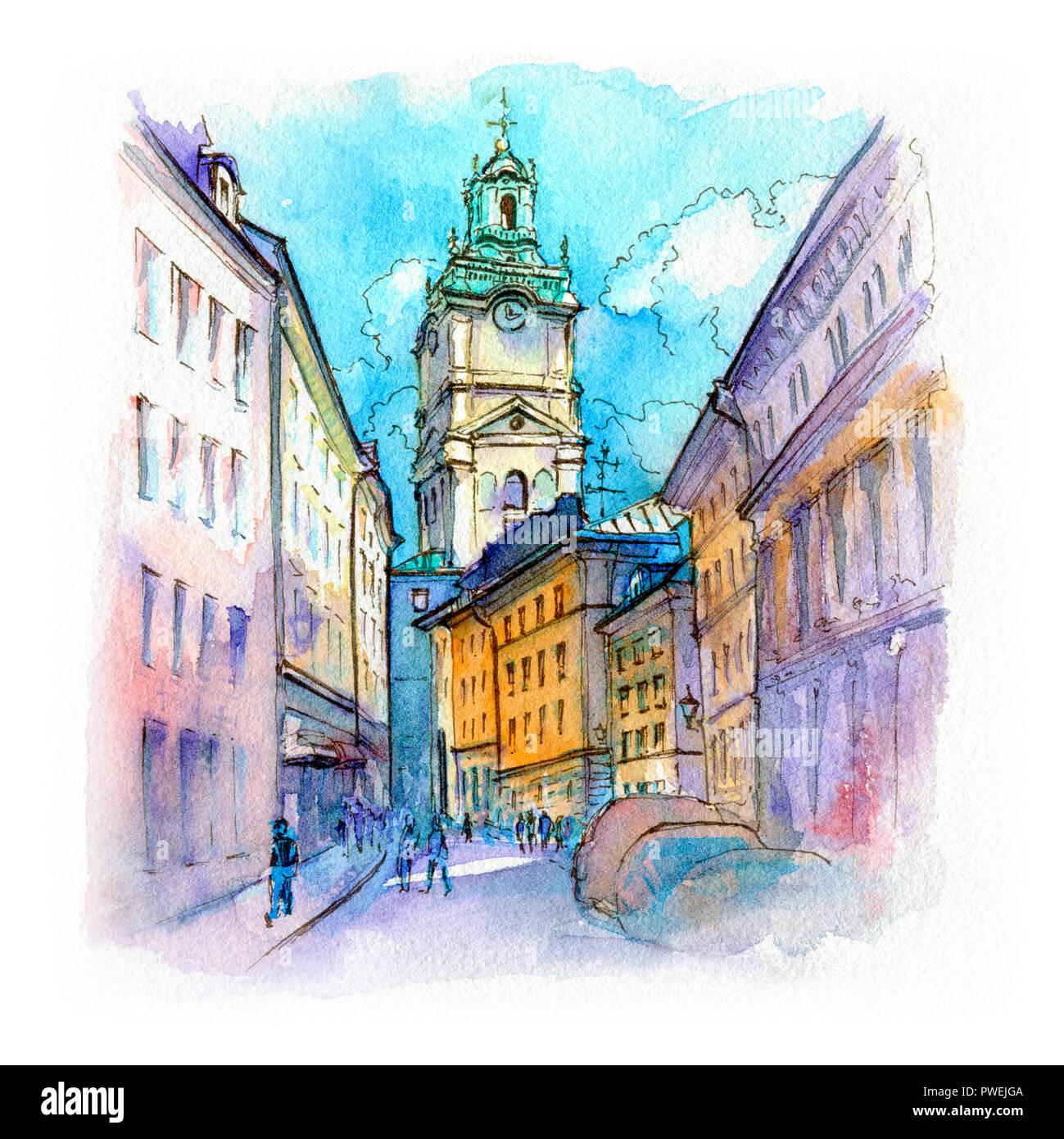 Church Storkyrkan in Stockholm, Sweden Stock Photo