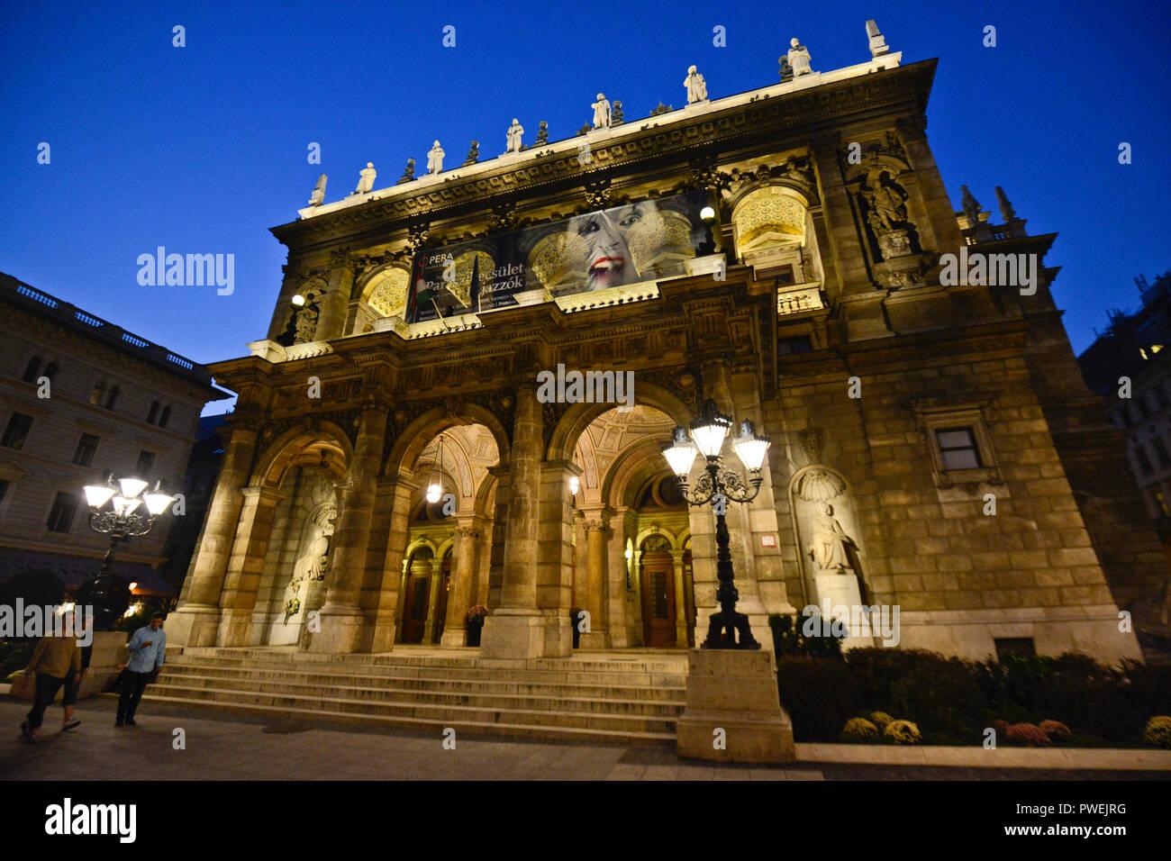 Hungarian State Opera House. Budapest, Hungary - Stock Image