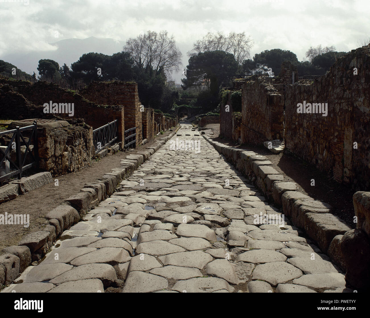 Italy Pompeii Roman City Destroyed In 79 AD By The Eruption Of The