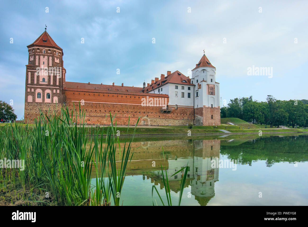 Europe. Belarus. Mir. Mir castle on a summer morning - Stock Image