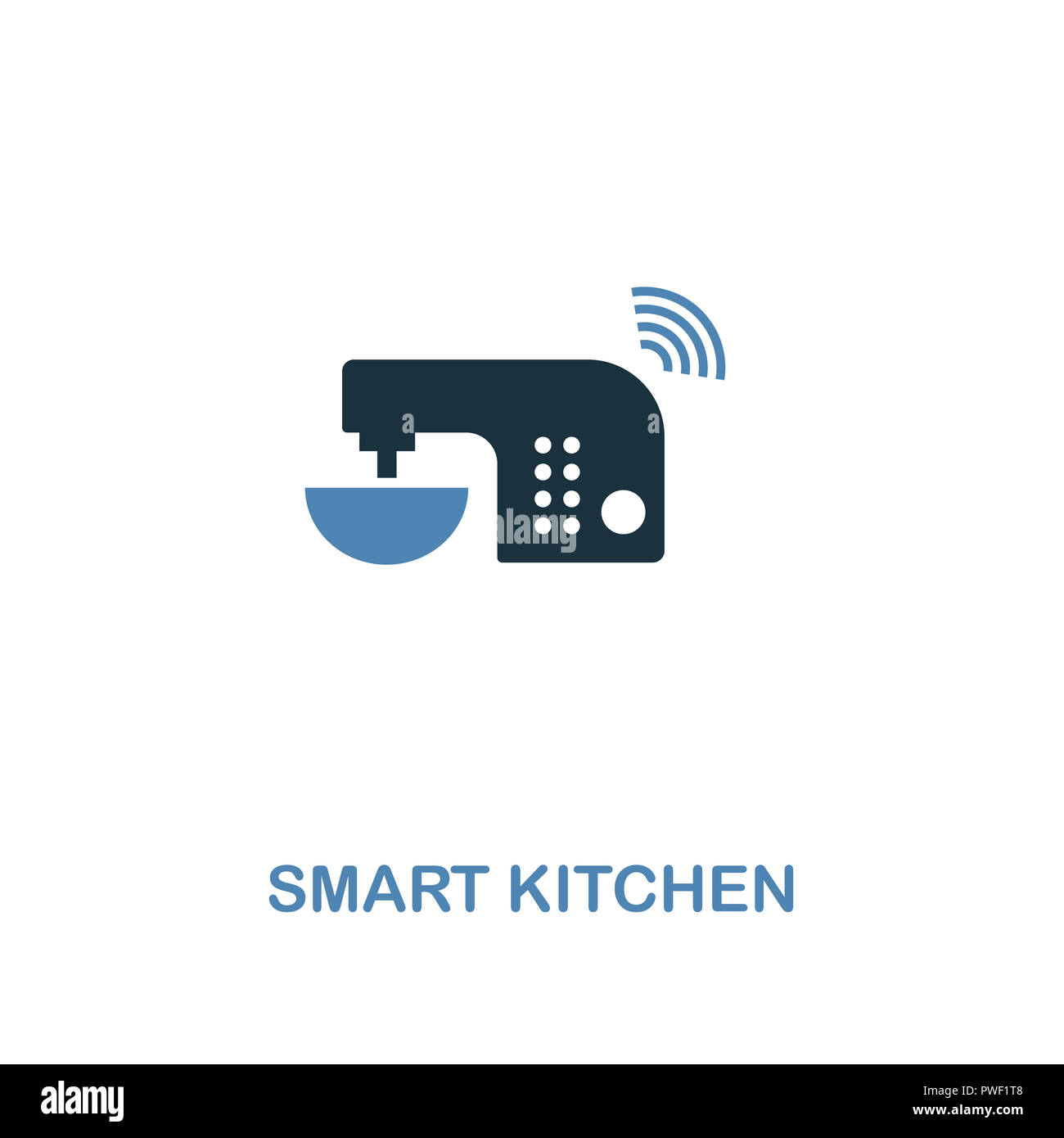 Smart Kitchen icon in two colors design. Premium style from smart devices icon collection. UI and UX. Illustration of smart kitchen icon. For web desi Stock Photo