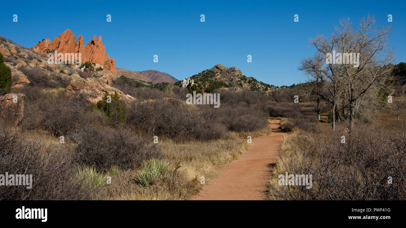 the way to garden of the gods, CO, USA - Stock Image