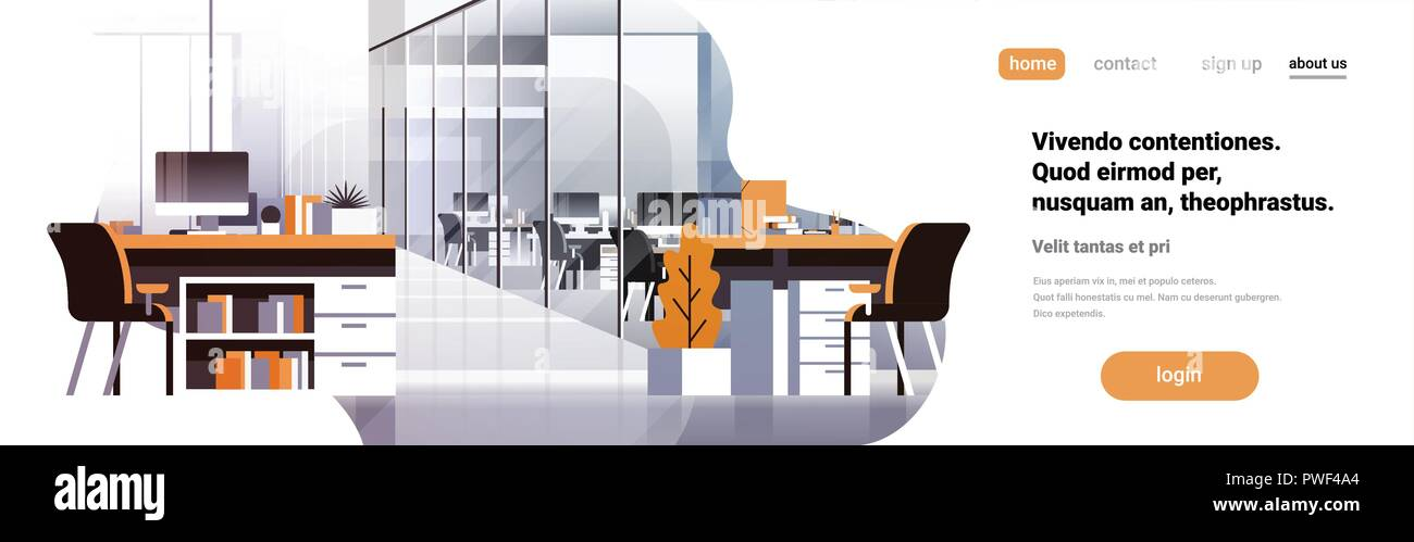 Coworking Office Interior Modern Center Creative Workplace