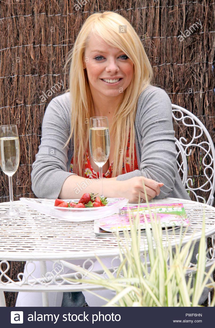 Liz McClarnon in Southport - Stock Image
